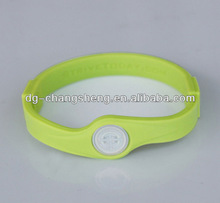 lovely silicone bracelets in high quality with SGS