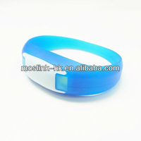 LED PULSE flashing light up silicon wristband bracelets