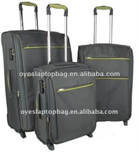 1200d fabric nylon trolley luggage set 2013 for travel journey