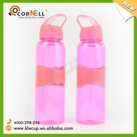 Outdoor camping pimk plastic+rubber hydration filter water bottle bpa free factory directly