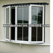 decorative security bars for windows cheap PVC casement window Guangzhou door and window factory price