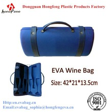 2014 new design luxury 2 wine glasses travel case for wine portable grape wine box