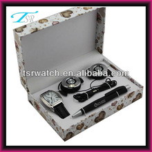 Earphone Pen watch set student gift set factory promotional wristwatch sets