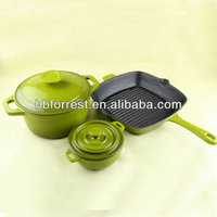 Cast iron enamel kitchenware sets