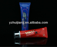 50ml Vimax power man travel set cosmetic plastic tube with two layers cap
