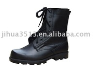 Black leather fashion military boots 2015