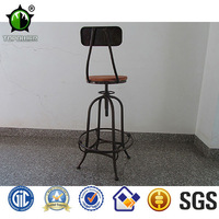 High quality metal industrial furniture swivel bar stools