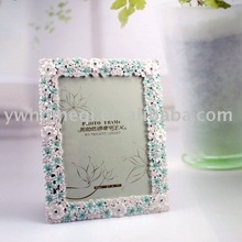 flowers in photo frame in hot selling/ 2012 alloy picture frame