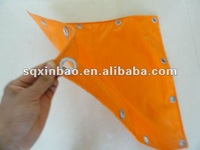 Both Side PVC Coated Fabric Tarpaulin,Truck Cover,Boat Cover With Grommets.PVC Orange Tarpaulin