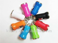 HOT! 5V 1A Mini Colorful Car Charger for Ipod for Iphone 4G 4S 3GS Cell Phone Mp3 Mp4 Mp5 KCH009