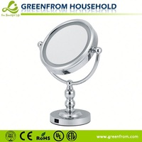 7 inch double sided high quality led lighted makeup mirrors