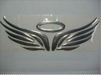 angel wing 3d car badge decal