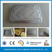Takeaway Flat Deli Disposable For Food Packing Aluminum Foil Container