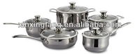 10pcs stainless steel indian dinner sets