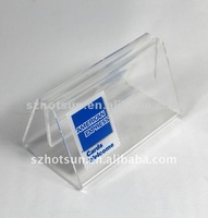 triangled table tent/table menu stands/restaurant displays
