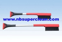 New Type Heavy-Duty Soft Bristle telescopic Snow brush with Ice Scraper