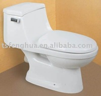FH2017 Jet Siphonic One-piece Toilet Sanitary Ware Ceramic WC Bathroom Design