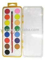 16pcs water color paint cake in plastic box