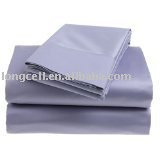 sheet flat fitted cheap stripe sateen 4pcs set