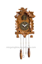 modern wooden cuckoo wall clock with sound
