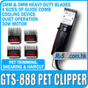 Trimmer Grooming 2 Blades 220V Dog Hair Animal Electric GTS-888 30W Pet Clipper