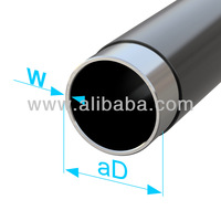 Plastic-coated precision steel tube
