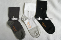Seamless silver fiber diabetic socks