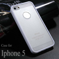 new tpu case for iphone 5 soft plastic cover for iphone5 transparent pc pu case for iphone 5