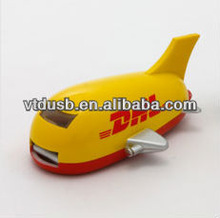 Novelty 3D plastic customized airplane USB flash drive dhl plane style 8GB gadgets memory drive key