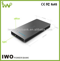 smartphone mobile charger 12000mah ORIGINAL iwo power bank for iphone 5 ipad mini