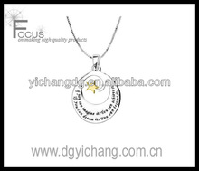 Imagine,Achieve,Dream star pendant