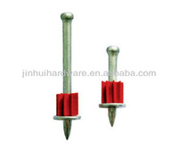 NK Drive Pins with red flute and metal washer/steel fixing pin fasteners
