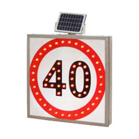 Solar LED Traffic Speed Limit Road Signs