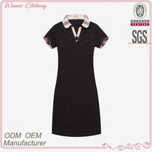 ladies fashion apparels contrast colour dress