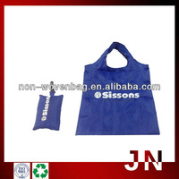Blue color Polyester Folding Shopping Bag