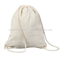 Cotton Drawstring backpack Gym bag