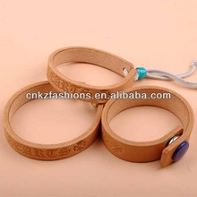 Cheapest factory price high quality genuine nature engraved classic popular at high quality fashion engraved bracelet