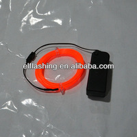 orange flashing sound active el wire,decorate car and house