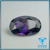 AAA quality oval shape synthetic amethyst