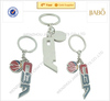 hot sales High quality cheap cost CBA club Zinc alloy material metal sport keychain