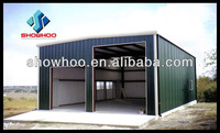 low price flat roof steel structure car garage