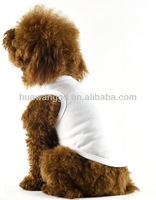 Popular blank pet tank top, wholesale white plain pet dog tank top T-shirt in bulk