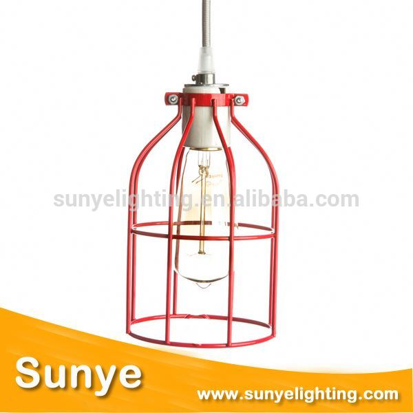 Vintage Iron Cage Edison bulb cage for crystal ball chandelier crystal glass beading