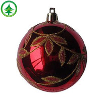 wholesale Hot Selling High-Quality 6 CM glass christmas ball ornament,Painted frosted christmas ball Plastic Christmas Ball