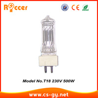 High Quality Theatre Lamp bulb 500W GY9.5 T18