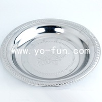 JGJ006 Thailand design stainless steel silver plated serving tray