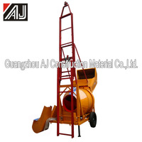 Hot Sale Zambia!!! JZC350 DHL Mobile Diesel Concrete Mixer With Hopper, Guangzhou Manufacturer