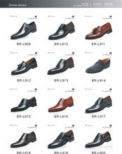 Fashion top brand handmade men leather shoes