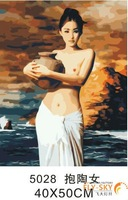 2015 Nude Woman Diy Oil Painting Frame Photo (40*50cm)