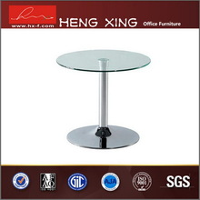 Chrome metal base small round coffee table HX-CT5054